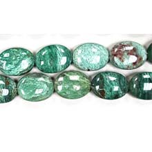GREEN DRAGON BLOOD FLAT OVAL 15X20MM
